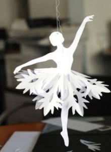 balerina de hartie