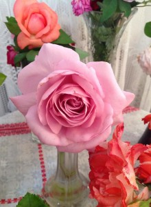 micul print trandafir