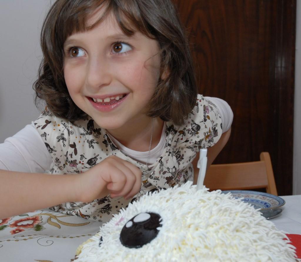 Irina la șapte ani