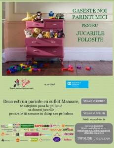 Până pe 30 iunie, salvați jucăriile de pe balcon și din dulapuri