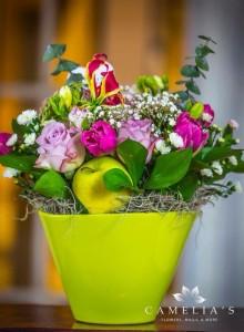 nunta de fructe si flori